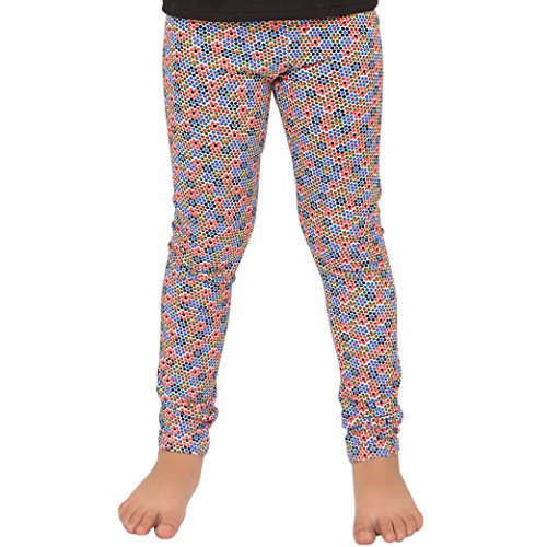 Stretch is Comfort Girl's Leggings Flower Confetti X-Large -