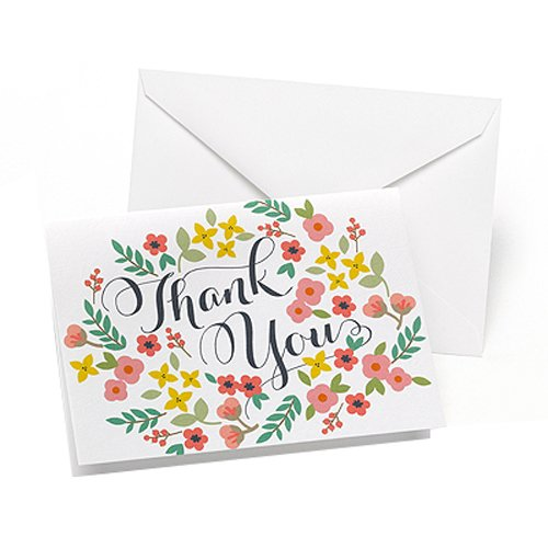 Appreciation Day Bouquet - Hortense B. Hewitt 35214 50 Count Retro Floral Thank You Cards