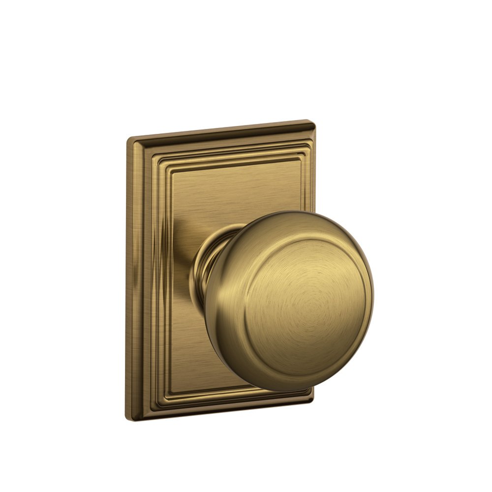 Schlage F10AND609ADD Addison Collection Andover Passage Knob, Antique Brass    Passage Doorknobs   Amazon.com