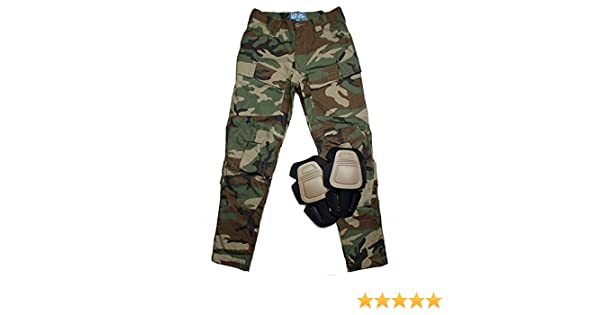 e44b4de78ff10 Amazon.com : TMC E-ONE Combat Pants ( Woodland ) for tactical airsoft  hunting game (XXL) : Sports & Outdoors