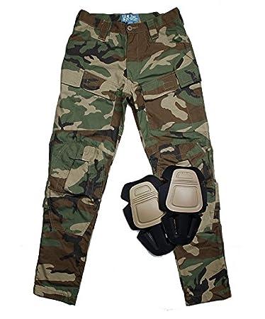 Amazon.com: TMC E-ONE pantalones de combate (Woodland) para ...