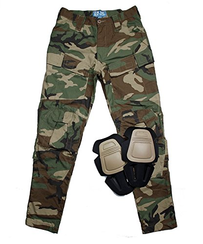 e484491c45408 TMC E-ONE Combat Pants ( Woodland ) for tactical airsoft hunting game (XXL