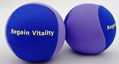 Regain Vitality Hand Therapy Stress Relief Ball 2 PACK Hand Exercise & Strengthening