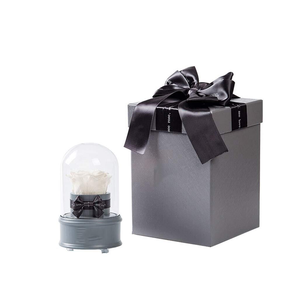 NKDK 星座ガラスカバー永遠の花ローズレコーディングストレージクリスマスバレンタインデーの告白Bluetooth音楽記念贈り物誕生日ギフト永遠の花 - 造花 3635 (Color : A) B07SX41G34 A