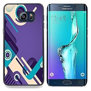 /Skull Market/ - Purple Teal Abstract Design Shoes Loop For Samsung Galaxy S6 Edge Plus - Mano cubierta de la caja pintada de encargo de lujo -