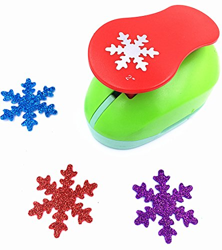 - TECH-P Creative Life 2-Inch Snowflake Paper Craft Punch,Card Scrapbooking Engraving Kid Cut DIY Handmade Hole Puncher Tool For Christmas Party Decorations-Snowflake