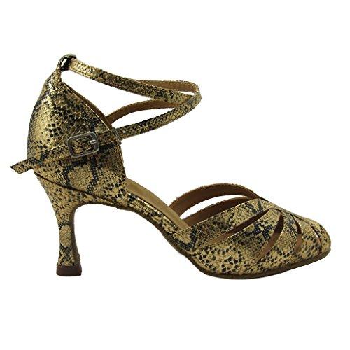 Latina Shoes Foo a per 2 cm Ballroom 98 Tango punta aperta con donna 6 Sandali Gold 75 Jig donna Dance alto Salsa tacco nYdTxvvqw