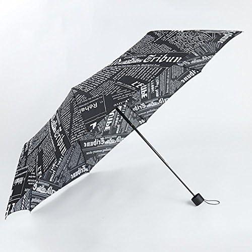 biutefang Umbrellas新聞Umbrellas傘折り畳み傘超軽量手動傘57x 98cm ブラック 6933322208080