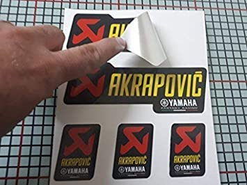 X 20 Autocollants Autocollants Sponsor Compatible avec Motorex Wp Akrapovic Impression Lamin/é Protecteur 20 Autocollants