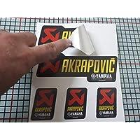 Pegatina Adhesivo Compatible con AKRAPOVIC Yamaha Aluminio