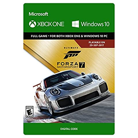 Forza Motorsport 7: Ultimate Edition - Xbox One/Windows 10 Digital Code (Window Ultimate 7)