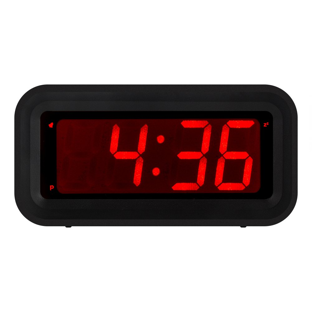 Amazon kwanwa led digital alarm clock battery powered only amazon kwanwa led digital alarm clock battery powered only small for bedrooms walltravel with constantly big red digits display home audio theater amipublicfo Images