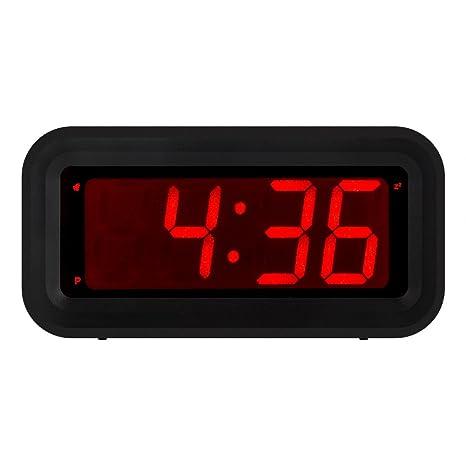 Kwanwa - Reloj despertador digital led pequeño, con un tamaño de números de 3 cm de color ...