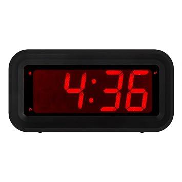 Kwanwa - Reloj despertador digital led pequeño, con un tamaño de números de 3 cm
