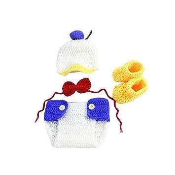 2091b3c27 Amazon.com: 4PCS Infant Newborn Baby Boy Crochet Costume Outfits ...