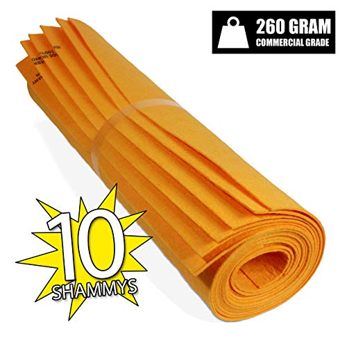 (German Made Shammy. DRYING TOWEL and CLEANING RAGS great KITCHEN SHAMMY (10, Orange (Large))