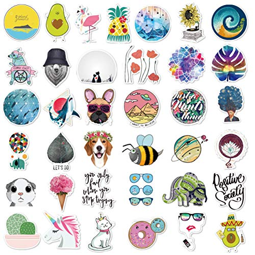 Cute Stickers(105Pcs),Laptop and Water Bottle Decal Hot Stamping Process Aesthetic Sticker Pack for Teens, Girls, Women Vinyl Stickers Waterproof