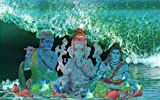 8.5 x 11 mixemedia print. Unmatted and unframed. Hindu gods in an ocean setting. Complimentary matching notecard