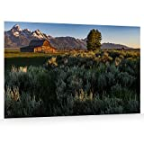 Utah Nature Photography 24x36 Inch Unframed Nature Poster Print Grand Tetons National Moulton Barn