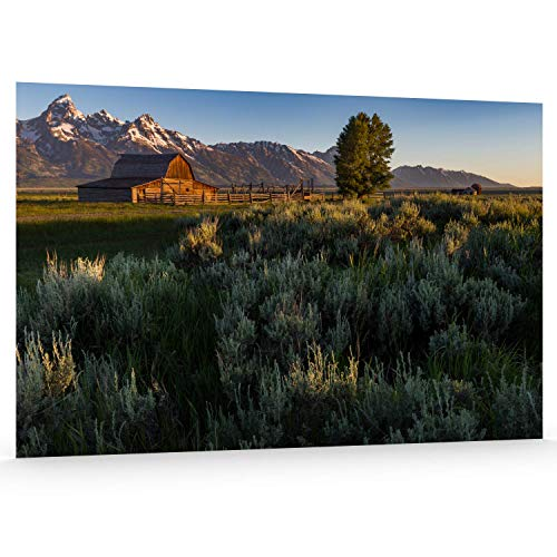 Utah Nature Photography 24x36 Inch Unframed Nature Poster Print Grand Tetons National Moulton Barn