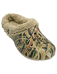 Men's Mossy Oak Fleece Dawgs Fluffy Clogs Slippers