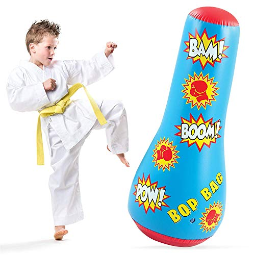 Hoovy Inflatable Punching Bag for Kids: Free Standing Boxing Toy for Children, Air Bop Bag for Boys & Girls, Exercise & Stress Relief (16.5x17x44) by Hoovy