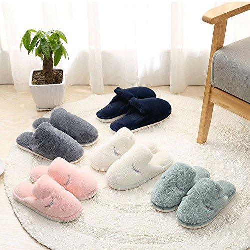 Wollen Pantoffels Van Alle Pluche, Slip-on Comfortabele Huispantoffels, Zachte Antislip, Zachtheid Badstof Lichtgroen