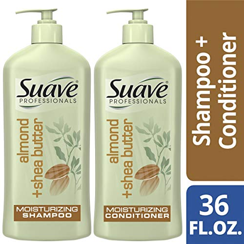 SUAVE HAIR Professionals Almond + Shea Butter Moisturizing Shampoo And Conditioner, 18 ()