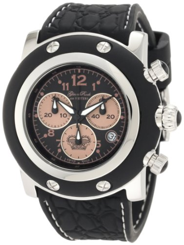 Glam Rock Men's GK1127 Miami Chronograph Black Dial Black Silicone Watch