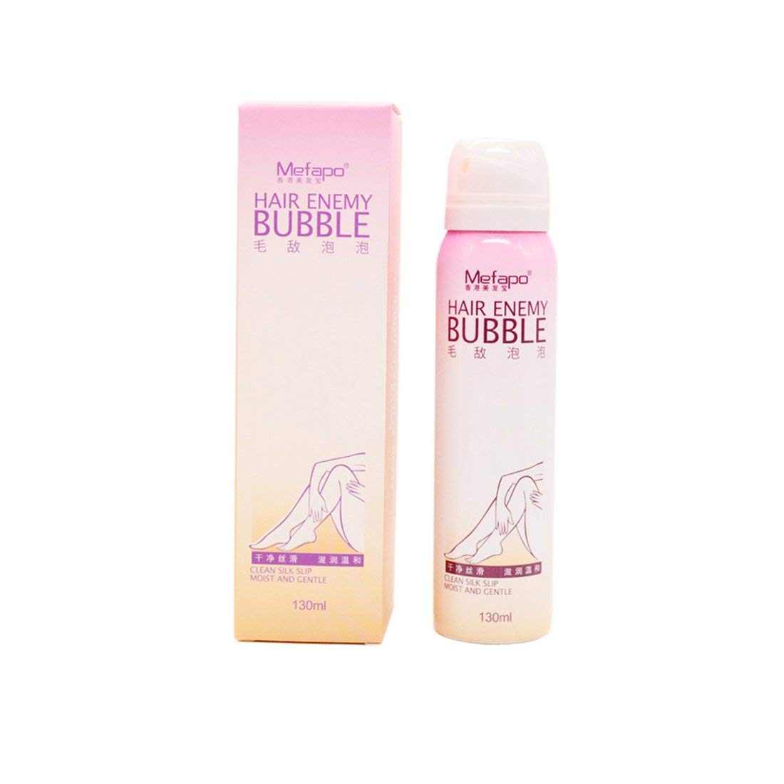 Natural Hair Removal Cream For Men & Women Painless Permanent Hair Removal Spray Gentle Bikini Depilatory Bubble - White Formulaone