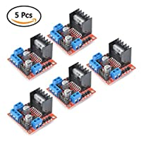 TIMESETL 5Pack L298N Stepper Motor Driver Controller Board Dual H Bridge Module for Arduino Electric Projects from TIMESETL