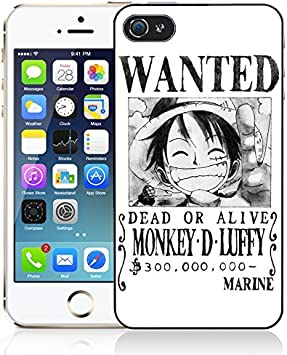 Coque iPhone 5/5S One Piece - Affiche Wanted Luffy