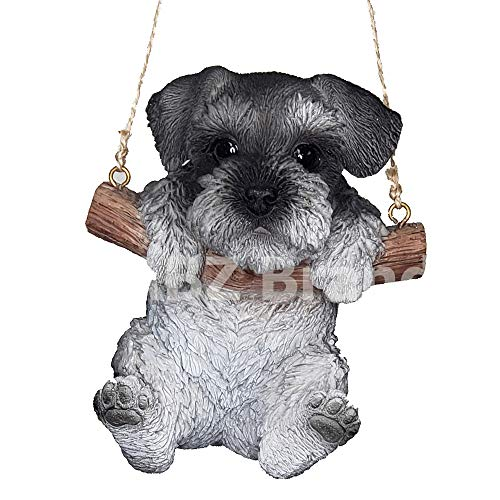 ABZ Brand Loving Cute Animal Pet Puppy Kitten Hanging Collectible Figurine Statue (Schnauzer)
