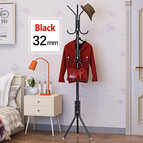 SaveStore Coat Rack 32mm Steel Pipe Fashion DIY Easy Assembly can be Removed Bedroom Hanging Storage Hanger Hanging Clothes Hats Bags
