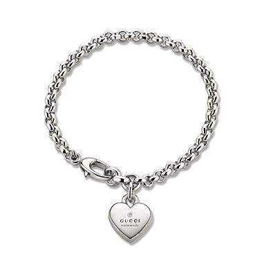 f03ef9a71 Gucci Women's Trademark 925 silver bracelet 17 cm YBA356210001017: Amazon.co .uk: Jewellery