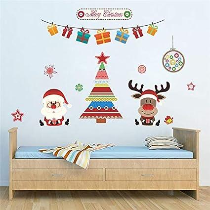 Mural ZOZOSO Decoración Navideña Árbol Ciervo Santa Claus ...