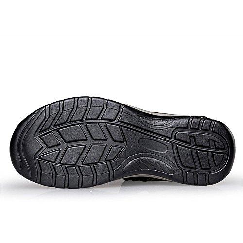 Casual 3 39 Wagsiyi In Colore da Da Da Sandali pantofole 1 Pelle Nero Uomo Traspiranti Scarpe Scarpe Uomo Scarpe 24 Nero Dimensione Da spiaggia Collisione Nere CM EU 27 0 0 wFgFfXrqK
