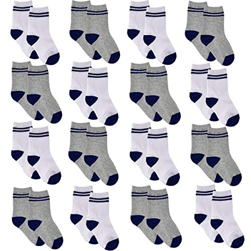 Toddler Socks - 16 Pair Cotton Toddler Boys Socks Baby Ankle Sock 2-4T