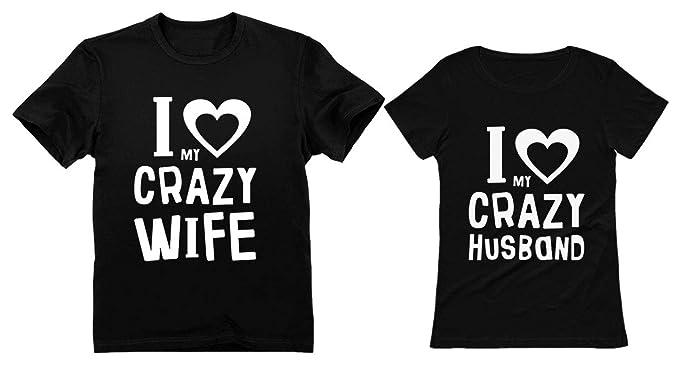 f4e3f714 Funny Husband & Wife Couples Gift Anniversary/Newlywed Matching Set T-Shirts  Man Black