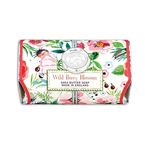 (Michel Design Works Oversized Triple Milled Shea Butter Bath Soap Bar Full Wild Berry Blossom)