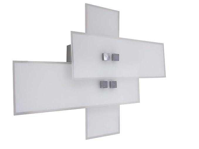Anna am lampada parete applique design moderno cromo illuminazione