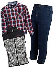 Ben Sherman Boys 3-Piece Fleece Vest, Woven Shirt, and Jogger Set
