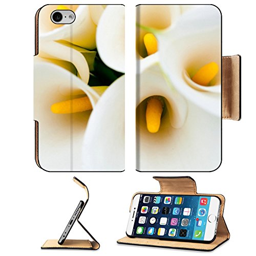 MSD Premium Apple iPhone 6 iPhone 6S Flip Pu Leather Wallet Case Calla lilies iPhone6 IMAGE 34900312