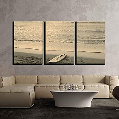 Beach and Surf Board Mallorca x3 Panels - Canvas Art