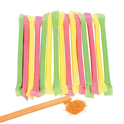 Fun Express - CandY-Filled Straws (240pc) - Edibles - Soft & Chewy Candy - Liquid & Powder Candy - 240 Pieces
