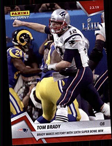 - 2018 Panini Instant NFL Football #437 Tom Brady New England Patriots Makes History with Sixth Super Bowl Win Print Run 245