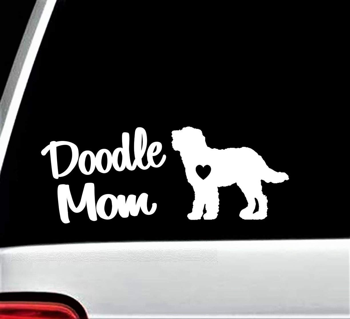 7-Count Labradoodle Doodle Mom Dad Dog Decal Sticker for Car Window BG 274