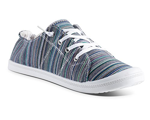 Twisted Womens Andrea Slip-On Canvas Sneakers