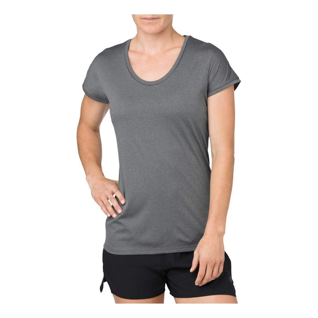 ASICS Cap Sleeve Top, grand, Dark gris Heather