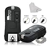 Pixel Flash Trigger Shutter Remote Control 2.4GHz 16 Channels for SONY MI Hotshoe Interface A58 NEX-3NL A7 A7R A3000 A6000 HX300 HX50 RX100M2 HX400 HX60 RX100II DSLR Cameras+INSEESI Clean Cloth